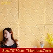 Self Adhesive 3D Brick Wall Stickers Living Waterproof Foam Room Bedroom DIY Adhesive Wallpaper Art 70*70*0.7cm home Wall Decals
