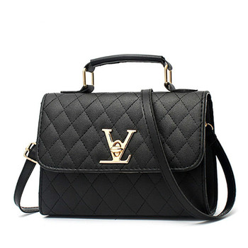 2020 Fashion Leather Small V Style Luxury Handbags Women Bags Designer Crossbody For Famous Brands Messenger Louis Bolsa