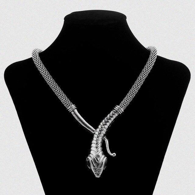 Lzhlq рок уличная Металлическая Змея массивное ожерелье Женские