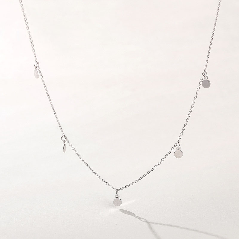Frosty Wind Personality Simple Round Short Necklaces 925 Sterling Silver Necklace Women Collier Argent 925 Véritable Femme