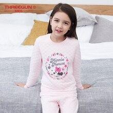 THREEGUN KIDS X Disney Minnie Mouse Long Thermal Underwear Kids Winter Soft