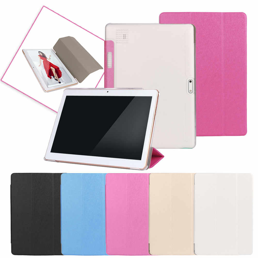 Universal Folio Kulit Stand Cover Case untuk 10 10.1 Inch Android Tablet PC Tablet Magnetic Case Tablet Stand Cover Tablet funda