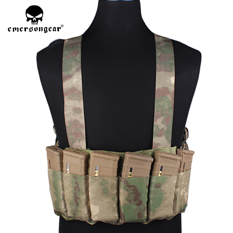 Emersongear rapide tactique poitrine plate-forme gilet tablier h-type Combat Airsoft gilet avec 6 fusil Magazine sac chasse poitrine plate-forme EM2390