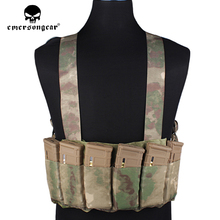 emersongear Fast Tactical Chest Rig Vest Apron H-Type Combat Airsoft Vest With 6 Rifle Magazine Bag Hunting Chest Rig EM2390 h harness chest rig plate carrier tactical vest rifle 5 56 7 62x39 single double pistol flapped gp stuff pouches hunting men