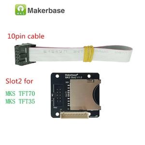 Image 2 - for BIGTREETECH SKR V1.3 MKS TFT 35 V1.0 display + MKS Slot2 + filament run out sensor 3.5 TFT LCD 3d printer touch screen