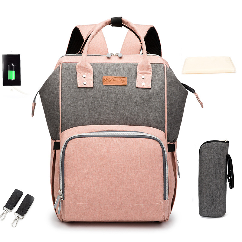 Mommy Maternity Nappy BagTravel Backpack Nursing Bag For Baby Care  Women's Fashion Travel Bag  Large Capacity Nappy Bag Fashion