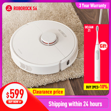 Roborock S6 Robot Vacuum Cleaner Home Automatic Sweeping Mopping Dust Sterilize 2000PA Smart Planned Machine Remote Control dibea gt200 smart gyroscope robot vacuum cleaner for home automatic sweeping dust sterilize smart planned washing mopping