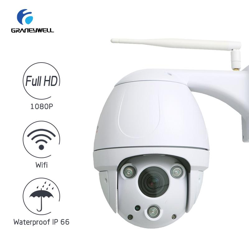 Best Wifi Camera 1080P Full-HD 2.0MP 5X Optical Zoom Security Camera Two-way Audio Smart P2P Waterproof IP66 Bullet WiFi Camera image