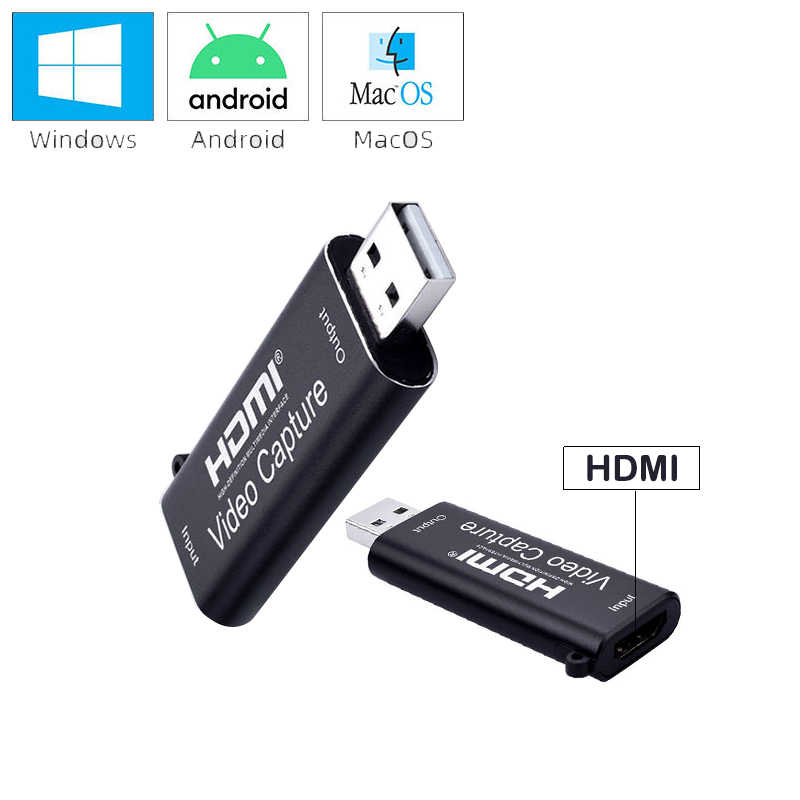 Mini Video Capture Card USB 2.0 To HDMI Board Capture Hdmi Video Capture Audio Video 1080Pการ์ดสำหรับ 4K Recorder/PS4/กล่อง