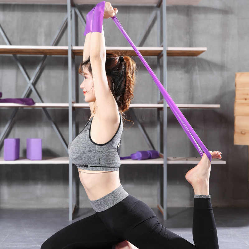 Yoga Spannung Gummiband Fitness Männer Und Frauen Widerstand Band Power Training Stretch Armband Latex Pull Seil Ziehen Paster