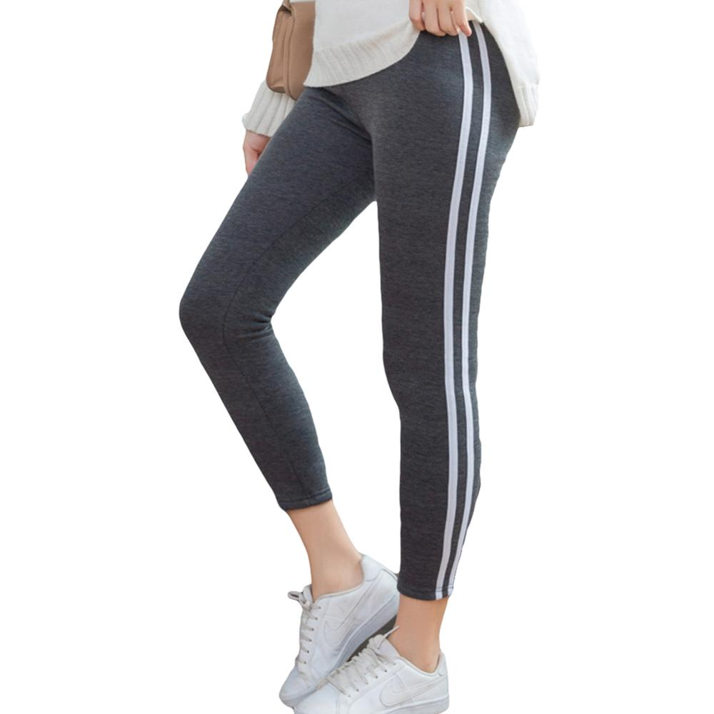 3XL  Women Hot New Fashion Ankle-length Keep Warm Black Grey High Waist Large Size Leggings Casual Women Sports Bottoming Pants