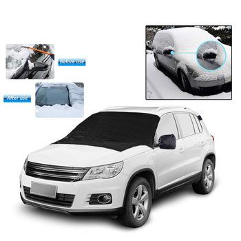 Wodoodporne zimowe pokrowce samochodowe przednia szyba samochodu śnieg pokrywa 210D Anti-frost odkryty śnieg szkło śnieg pokrywa odkryty Auto akcesoria samochodowe tanie i dobre opinie 190cm 210D coated Oxford Pokrowce na samochód 95 car SUV models Snow cover 0 2kg 107cm car cover Mirror cover Sun UV Snow Resistant snow