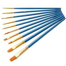 Stationery Paint-Brush Art-Supplies Acrylic 10-Pcs Watercolor Wooden-Handle Artist Professional