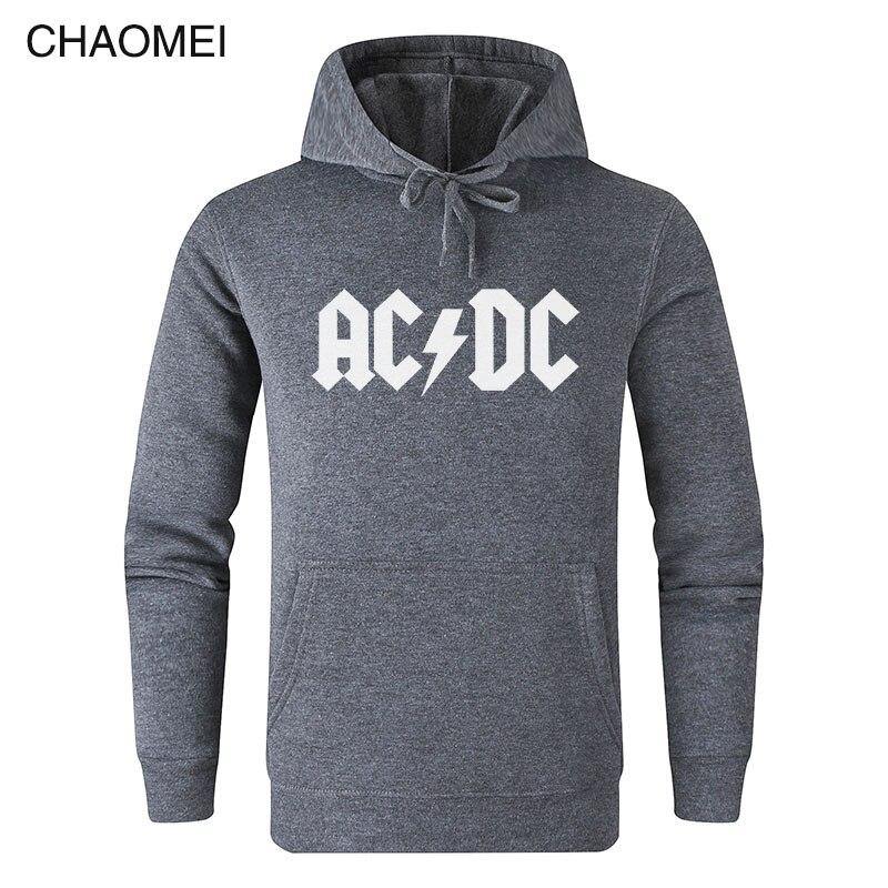 AC DC Hoodie Men Hip Hop Rock Band ACDC Back In Black Sweatshirts Male Casual Streetwear Jackets Hoody Spring Winter Tops C106
