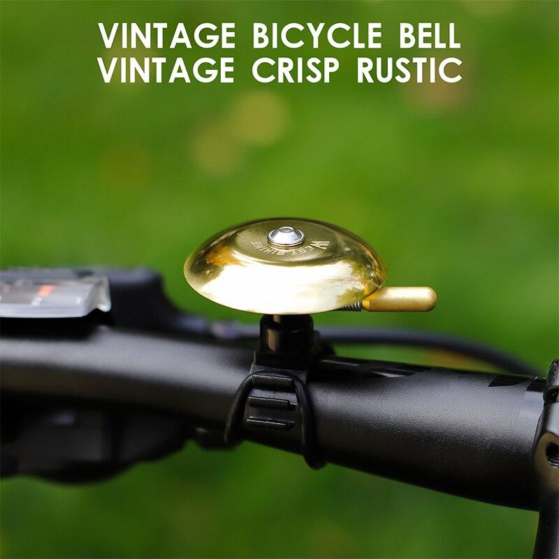 Fuxunamz citybike e-bike vintage in stile retr/ò campanello per bicicletta classico con suono bello campanello per bici da corsa mountain bike campanello per bicicletta con supporto in acciaio