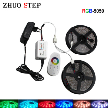 LED Strip Light RGB SMD 5050 RGBW LED RGB Ribbon Waterproof Emitting Light Diode Tape Ribbon Stripe DC 12V RGB Controller Set