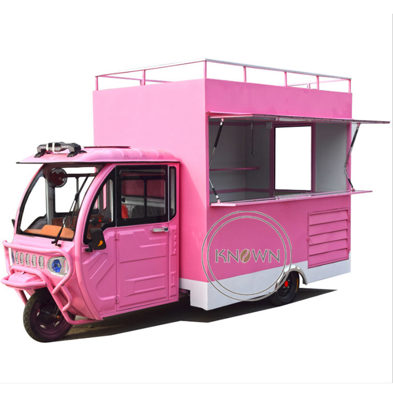 3800mm Electric Ape Mobile Street Fast Food Truck Ice Cream Cart For Sale