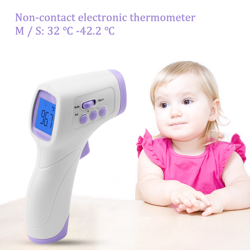 Handheld Non-Contact Electronic Thermometer Baby Adult Forehead Pyrometer