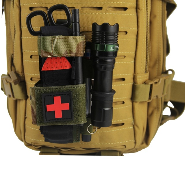 Hanging Bag Scissors Cover Outdoor First Aid Quick Slow Release Buckle Medical Military Tactical Emergency Tourniquet Strap Bag 5
