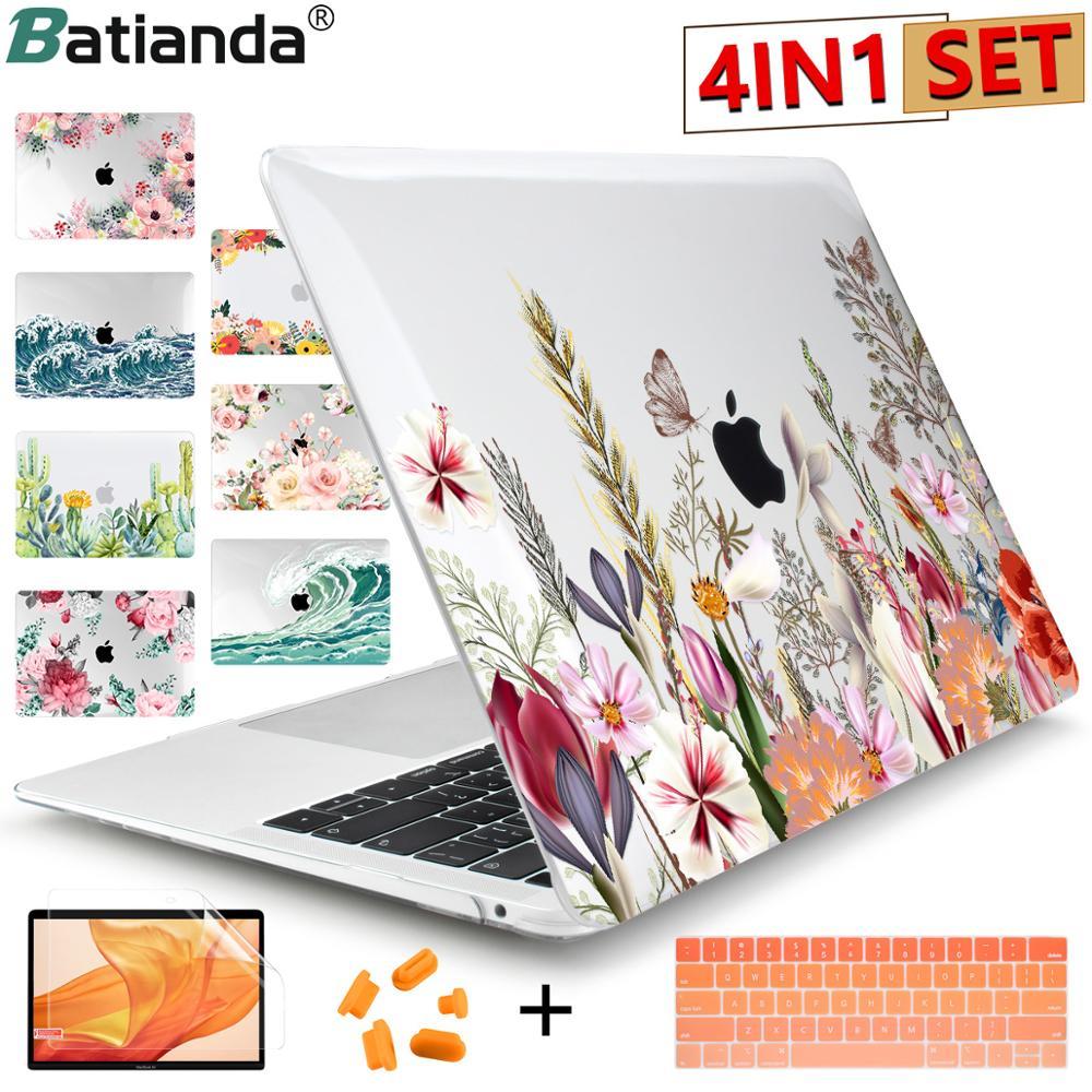 2020 nova marca fosco claro pintura caso do portátil para apple macbook pro retina 12 13 15 barra de toque & ar 11 13.3 polegada 2020 a2179