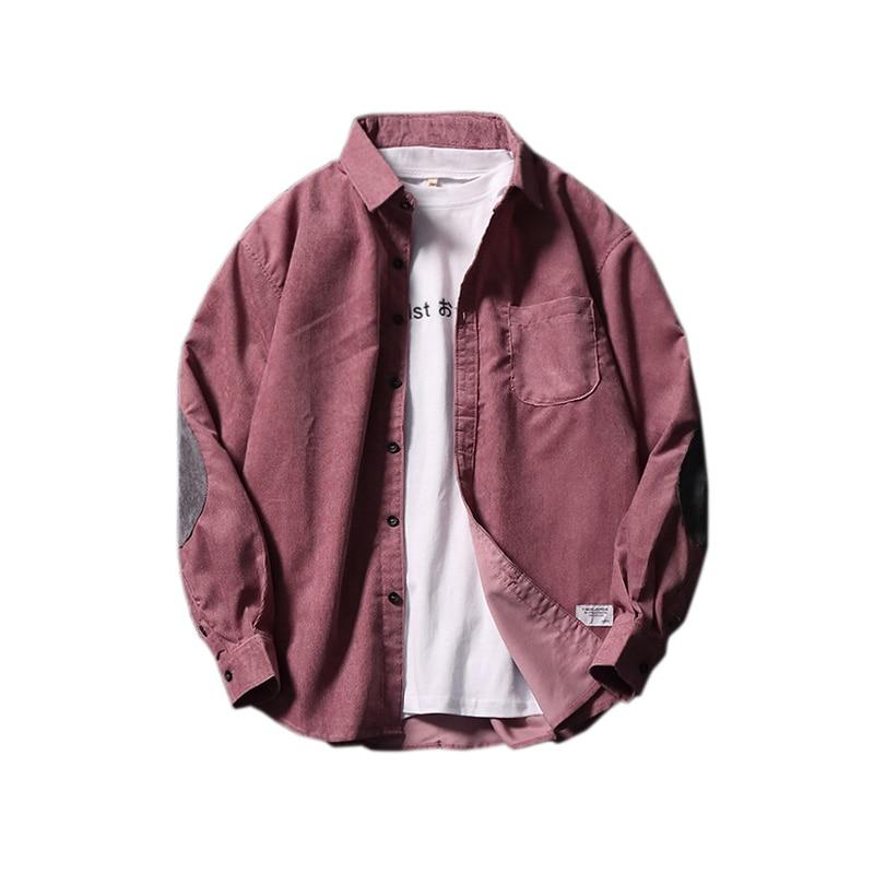 Fashion Men 2019 Flannel Shirts Men Casual Wear Solid Hiphop Streetwear Korean Japanese Winter Autumn Slim Fit Designer Shirts
