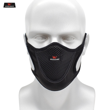 WOSAWE Anti-pollution Dust Reusable Washable Face Shield Breathable Windproof Men Motorcycle Face Mask For Outdoor Sports