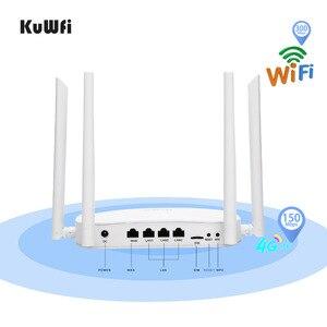 Image 3 - Bộ định tuyến Wifi KuWFi 4G LTE 300Mbps Bộ định tuyến CPE không dây 3G / 4G có khe cắm thẻ Sim Hỗ trợ 4G sang LAN Với 4 chiếc Antenas lên đến 32 người