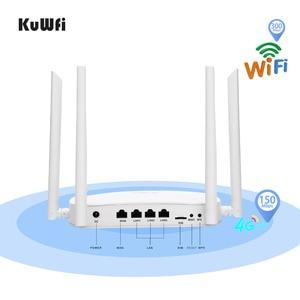Image 3 - KuWFi 4G LTE Wifiルーター300Mbps 3G / 4GワイヤレスCPEルーターとSimカードスロットサポート4GからLAN、4個のアンテナで最大32ユーザー