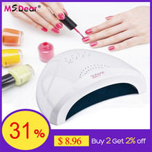Lámpara UV LED inteligente para manicura, secador de uñas con luz de 36W/48W/54W, Gel de secado, esmalte lámpara, herramientas de salón