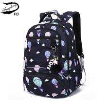 Fengdong dzieci nieprzemakalny plecak szkolny dla dziewczynek szkolne torby śliczne drukowanie ballon plecak na laptopa plecaki dla dzieci tornister