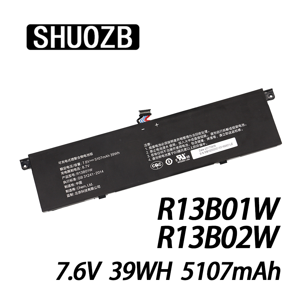 NEW R13B02W R13B01W Universal Laptop Battery For Xiaomi Mi Air 13.3