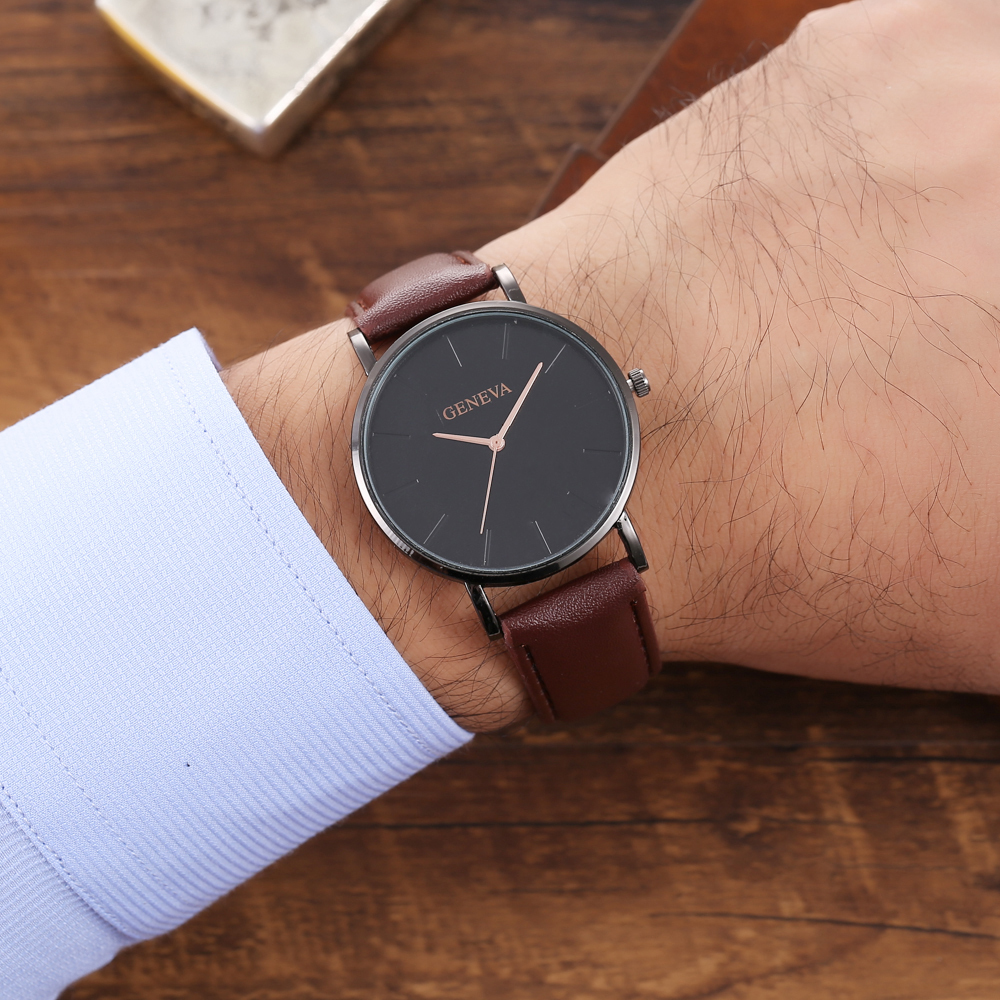 H249fa88bcaed4c459e9b77391315fafcT Arrival Men's Watches Fashion Decorative Chronograph Clock Men Watch Sport Leather Band Wristwatch Relogio Masculino Reloj
