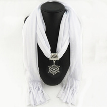 SANMAIHUA Jewelry Statement Necklace Pendant Scarf Women Gorgeous Neckerchief Foulard Femme Chiffon Accessories Hijabs