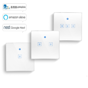 Image 1 - Ewelink Touch Switch Wifi 2.4G Smart Home Touch Switch Wall Panel EU /UK Standard Smart Led Wifi Control Alexa