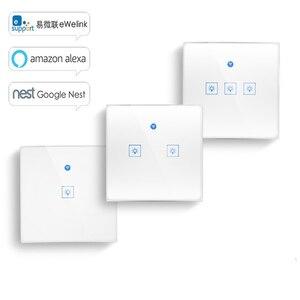 Image 1 - Ewelink commutateur tactile Wifi 2.4G maison intelligente interrupteur tactile panneau mural ue/royaume uni Standard Led intelligente Wifi contrôle Alexa
