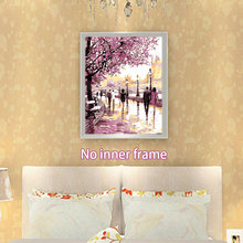 Dining Room DIY Drawing Canvas Art Paint By Number Oil Painting Set Scenery Decorative Home Office Craft Frameless Gift(China)