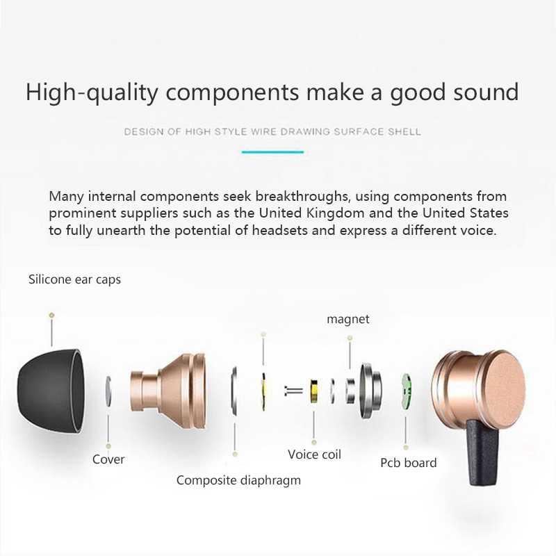 SLS-100 bezprzewodowe sportowe słuchawki bluetooth wbudowany mikrofon redukcja szumów różowe złoto