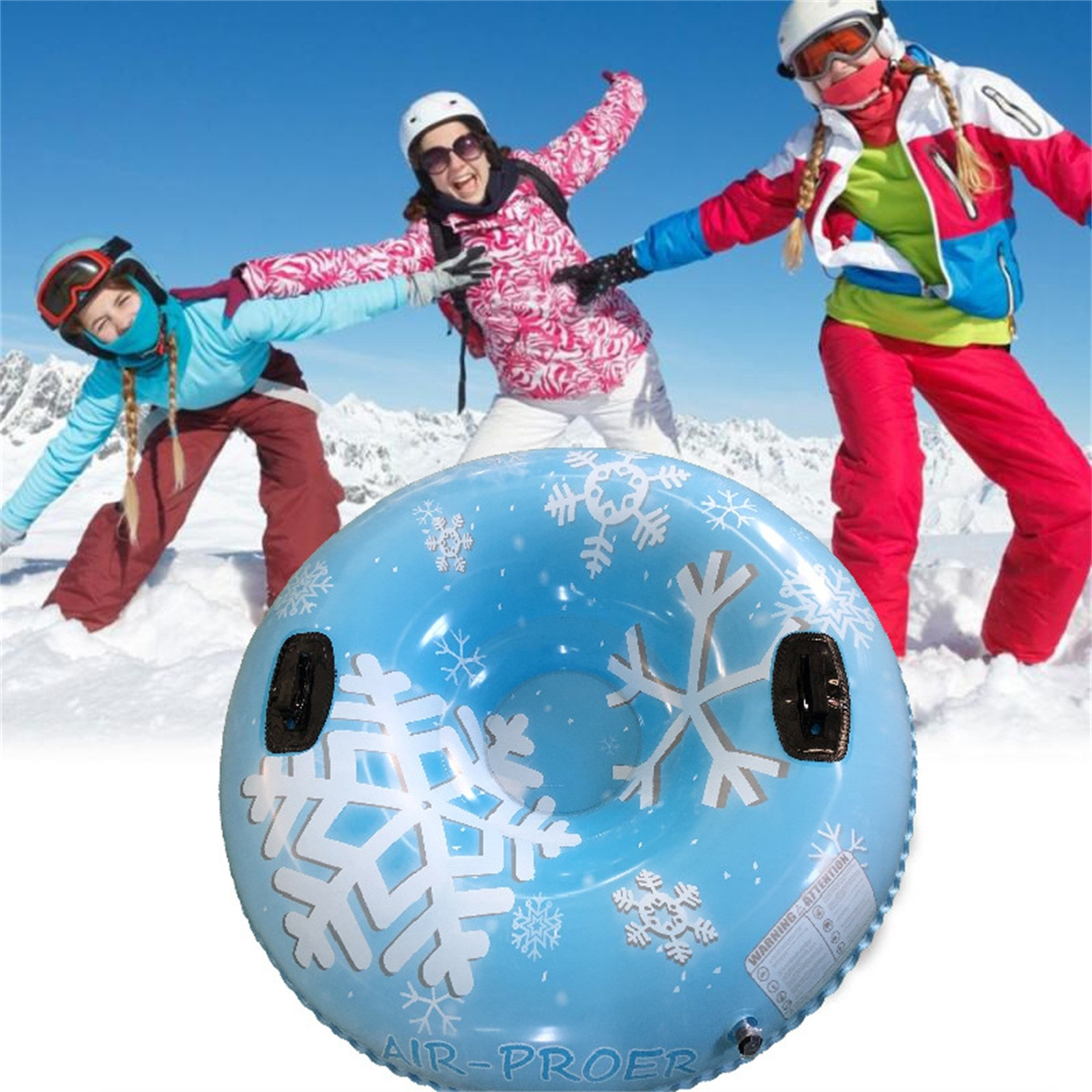 Ski Circle with Handle Inflatable ski ring Snow tube Thickened version high-quality more Durable suitable for children and adult