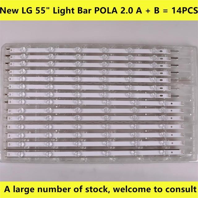 14PCS striscia di Retroilluminazione A LED Per lg 55LN5400 55LN6200 55LN5600 55LN5710 55LN5750 55LA6205 55LA6200 55LA6210 55LA6208 LA62M55T120V12