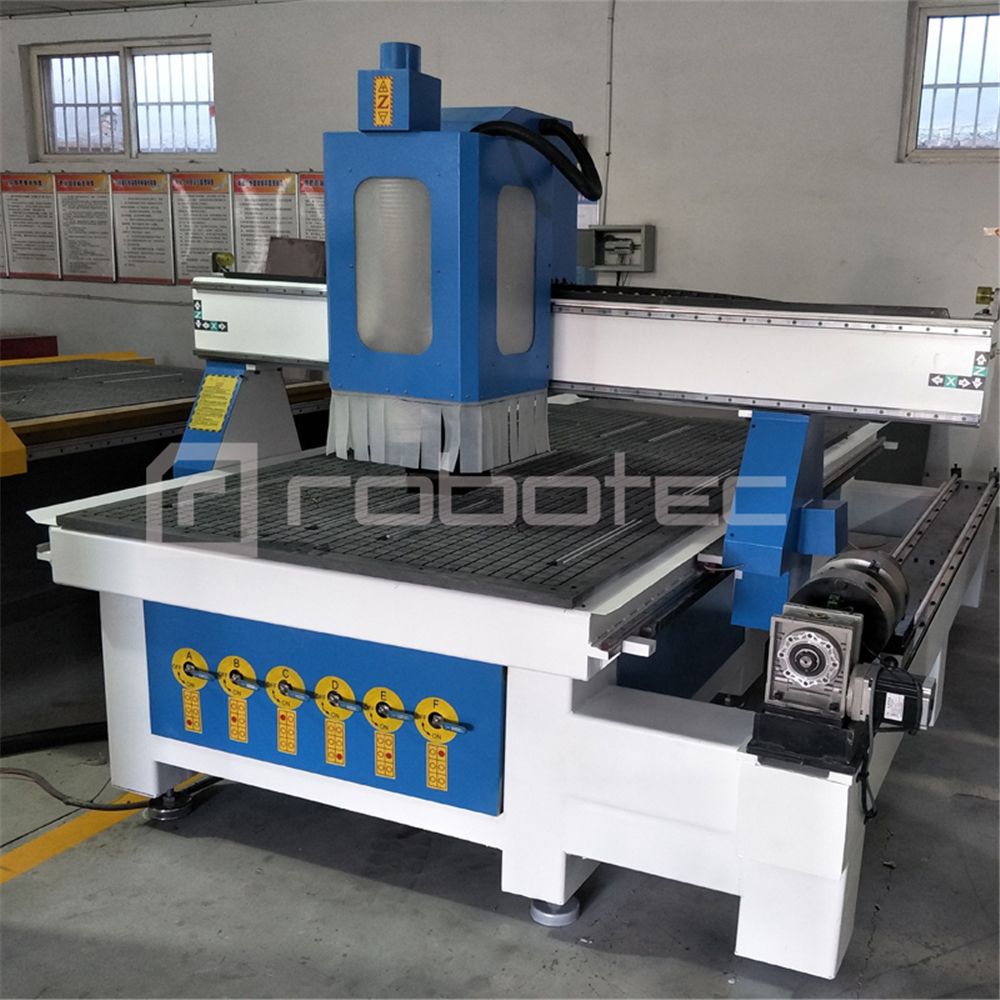 China Wood Cutting Milling 1325 Cnc Router For Cabinet Furniture Engraving Machine With 4 Axis/ 4x8 Ft Woodworking Cnc Machine