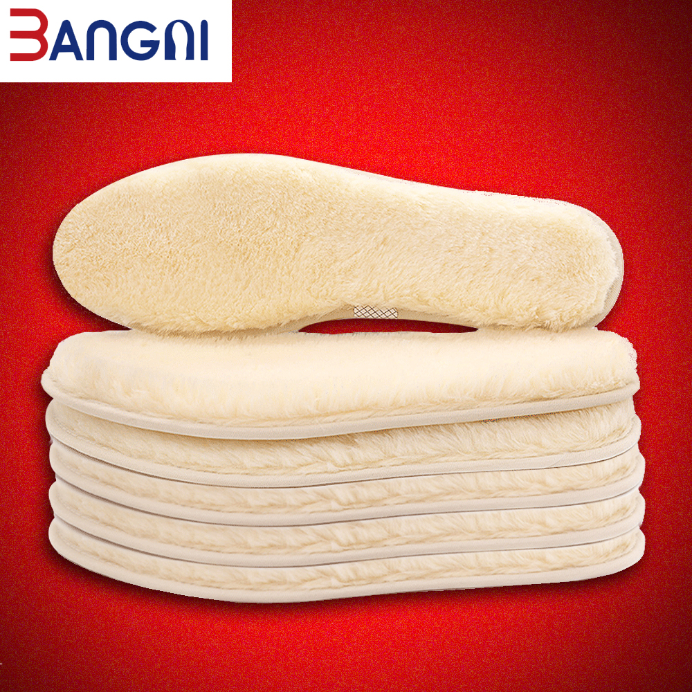 3ANGNI Unisex Thick Anti-cold Wool Warm Insoles For Shoes Breathable Plush Fur Insoles Pad Warm Heated Soles Shoes Snow Boots