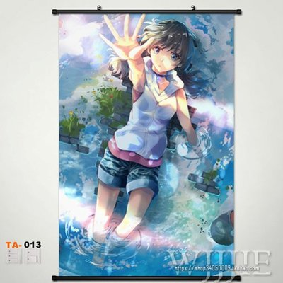 Japan Anime Home Decor Wall Scroll Poster Weathering With You Painting Calligraphy Aliexpress