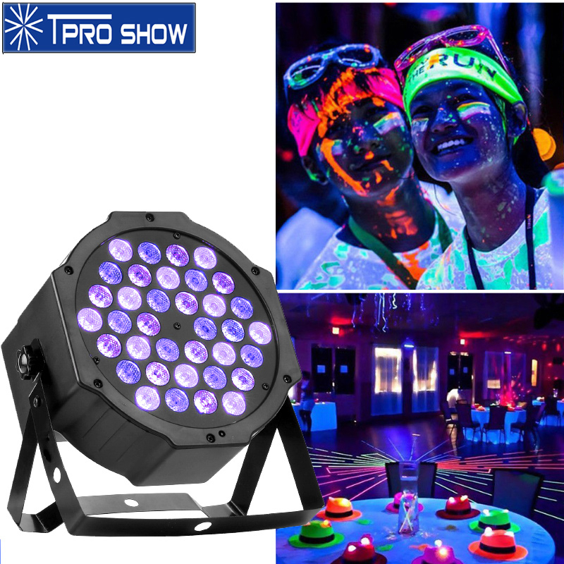 Uv Light Led Party Ultraviolet Lamp 36 Par LED UV Strobe Disco Light Effect Dmx 512 Sound Control For DJ Club Black Light Paint