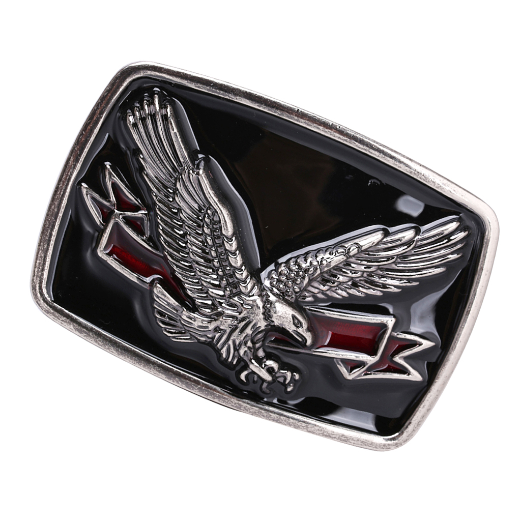 Mens Flying Soaring Eagle Belt Buckle Rectangle Zinc Alloy Western Belt Buckles Jeans Accessories Novelty Style Belt Buckle