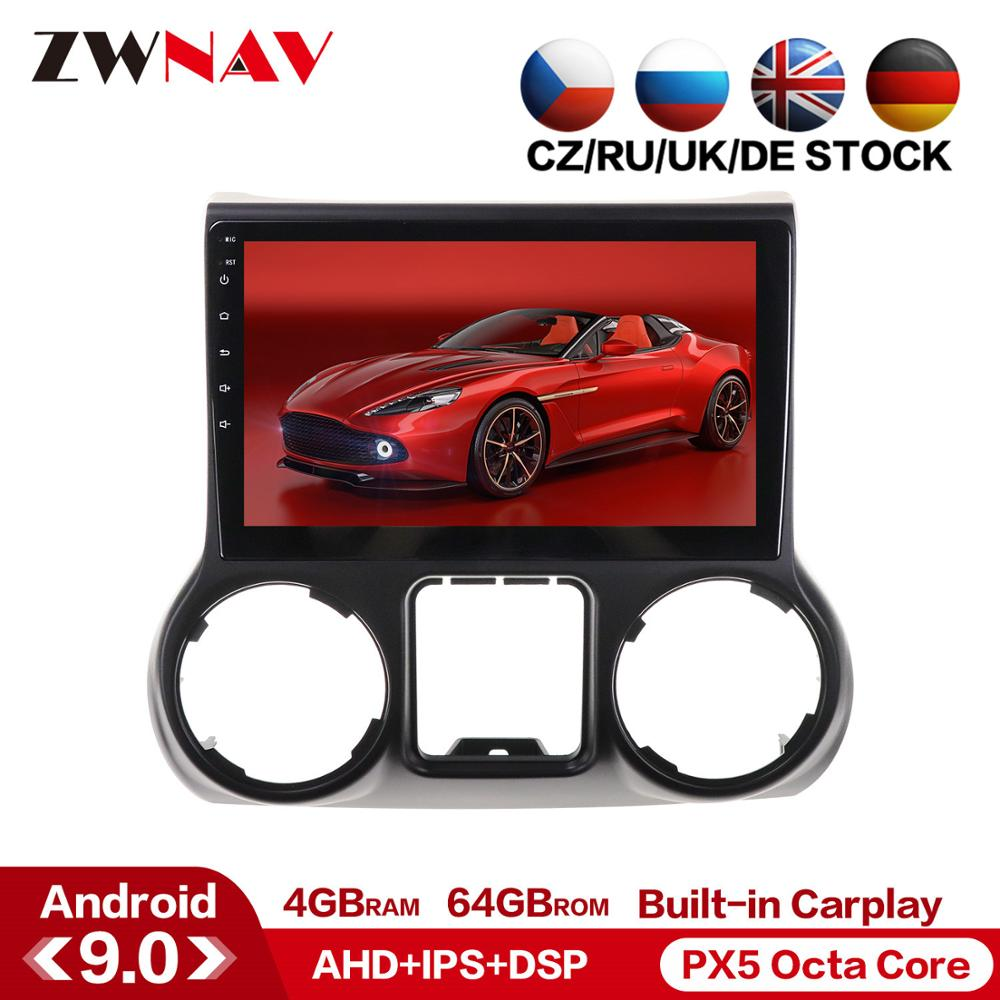 Android 9.0 Car Multimedia Player For Jeep Grand Wrangler 2011-2016 GPS Glonass Navigation Radio Stereo Head Unit Wifi Free Map