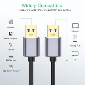 Image 2 - Süper hızlı USB 3.0 tip A erkek tip A erkek uzatma Data Sync kablosu kablosu mavi radyatör için sabit Disk USB3.0 veri kablosu