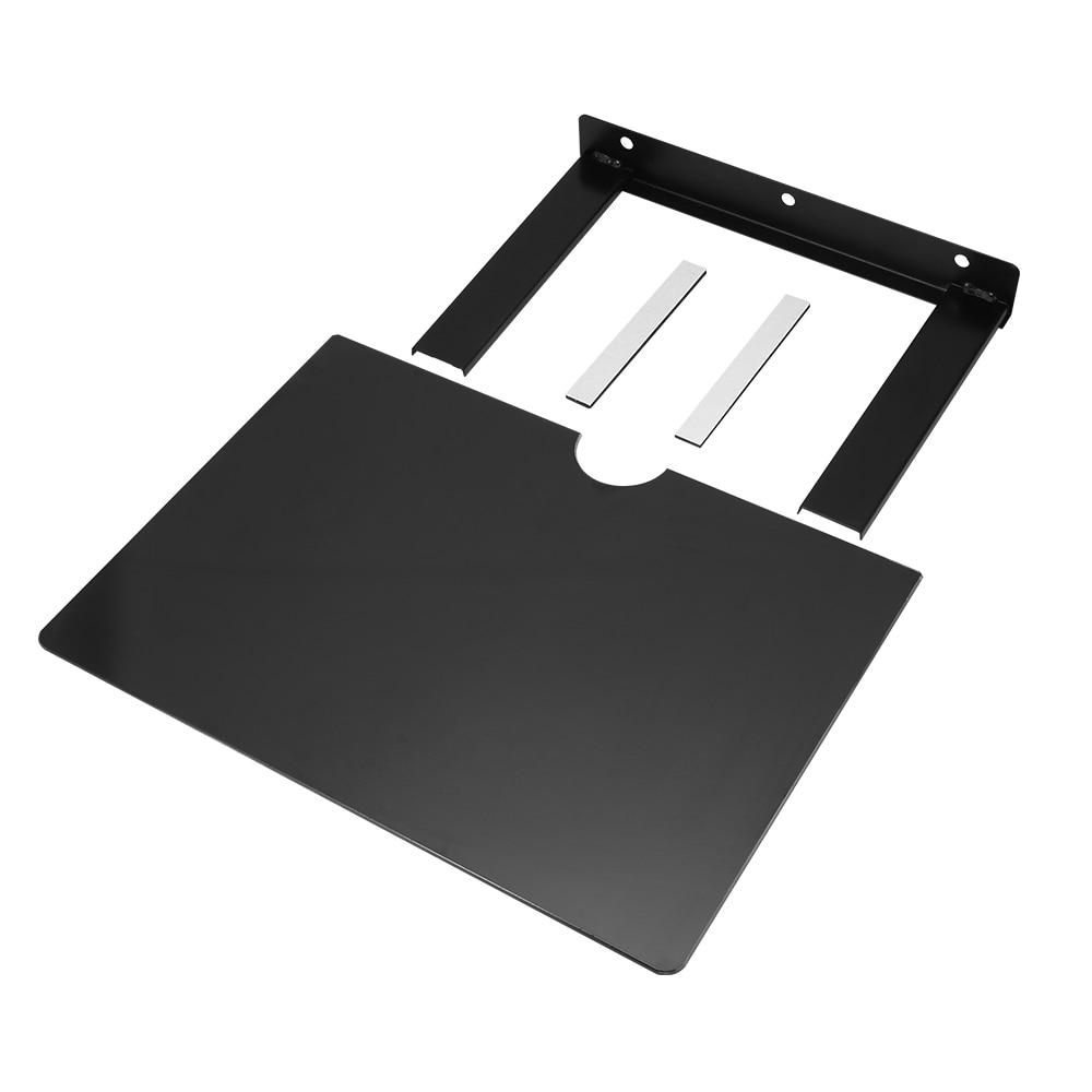 Настенный кронштейн для DVD плеера, черная полка с толстым закаленным стеклом, настенная полка для DVD кронштейна Кронштейны для проекторов      АлиЭкспресс
