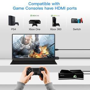 """Image 2 - Eyoyo EM13Q 13.3 """"schermo LCD portatile per Monitor da gioco HDMI con VESA UHD 3840X2160 4K IPS USB tipo C per PC Phone PS4 Xbox Switch"""