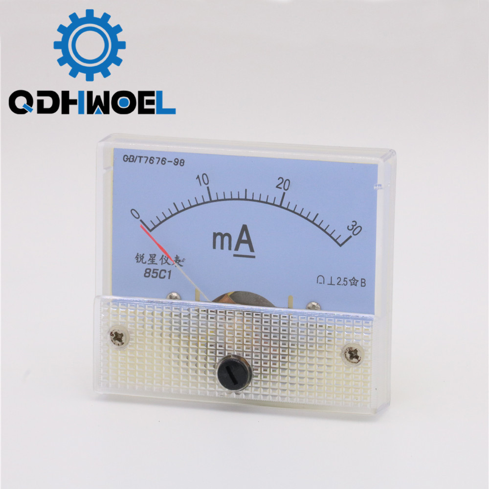 30mA Ammeter Analog Amp Panel Meter Current HUA 85C1 DC 0-30mA For CO2 Laser Engraving Cutting Machine