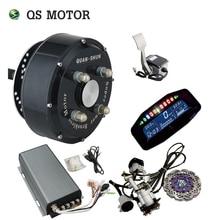 QSMOTOR 72V 90KPH חשמלי רכב רכזת מנוע ערכות המרה כפולה 3000W ב גלגל רכזת מנוע ערכות עבור רכב עם Sabvoton בקר